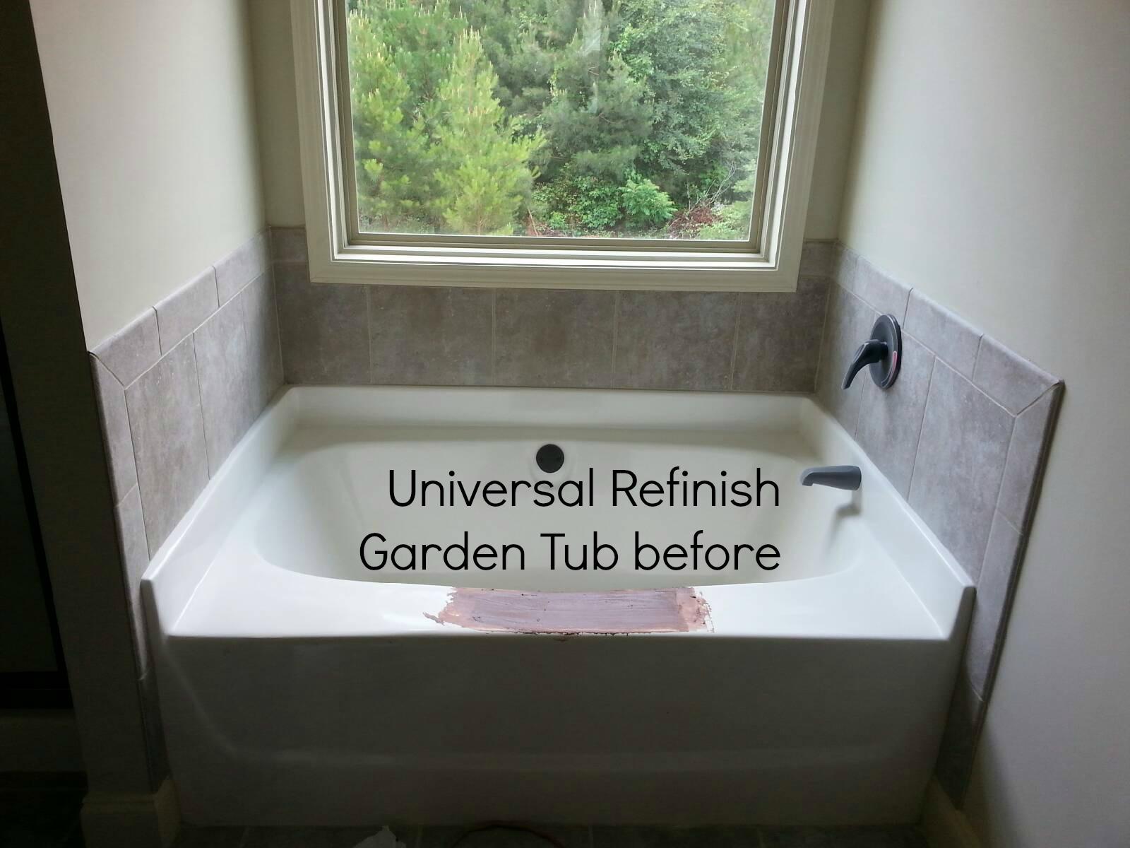 Fiberglass Garden Tub Before
