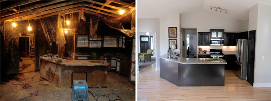 fire and smoke damage restoration in Atlanta before and after