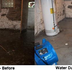 water damage restoration in Atlanta before and after
